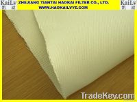 High temperature woven fiberglass with PTFE membrane