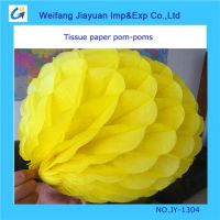 Paper pom poms for wedding decoration