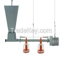 Poultry feed pan system of poultry feeding equipment
