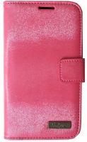 Glittering mobile phone case wallet type magnetic holder nizwell Korea Phonestyle Pink