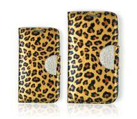 Women Wallet Phone Case Leopard Pattern Enamel Cubic Holder Korea
