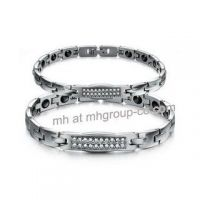 Fashion New Design 316L Stainless Steel Bracelets Crystal Couple Bracelet Jewelry