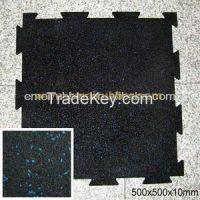 Non-toxic gym rubber floor mat tile roll sheet