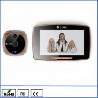 "K800 GSM peephole door viewer 5"" biggest touch screen support dual-direction calls and MMS Alarm"