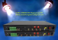 EFP camera fiber optic connection system for remote, tally, intercom, ethernet signals long distance transmission in OBVAN