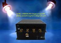 4K SDI fiber converter with 4x3G sdi over 1 single mode fiber extender to 10KM