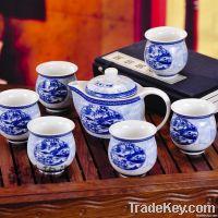 Good Quality ceramic whiteware Complete set of tea set