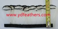 Pheasant Feather Trims Fringe with Satin Ribbon Sewing Crafts Costumes