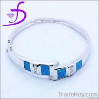 [Hot Sale]Wholesale Sterling Fashionable Design Opal Bangle 925 Silver