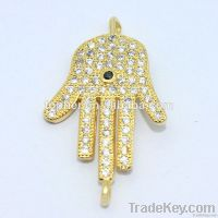 Wholesale micro pave setting 925 sterling silver jewelry pendant