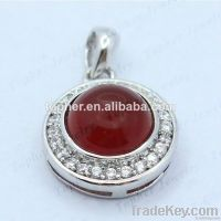 Latest New Arrival sterling silver jewelry natural stone pendants whol