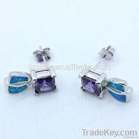 hot selling unique style opal stud earrings factory wholesale opal ear