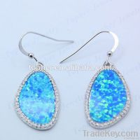 Newest Fashionable Design 925 Sterling Silver Jewelry Opal Earring