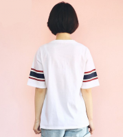 New womens full cotton T-shirt printed short sleeve fashion sportswear