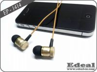 Mobile metal earphone with microphone