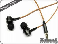 New metal earphone with mic for mobile phone