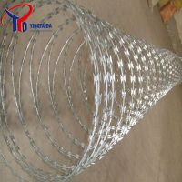 Galvanized Concertina Razor Barbed Iron/Steel Wire Supplier