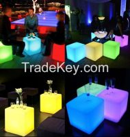 43cm x 43cm x 43cm Led light cube,Rechargeable Waterproof Led Outdoor Light Cube Furniture / Color Change Led Glowing Cubes