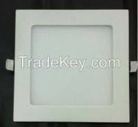ultra slim Square recessed LED panel lamp 12W 2700-3000K/4000-4200K/6000-6500K