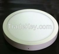 surface mounted round LED panel light 12W 27000-3000K/4000-4200K/6000-6500K