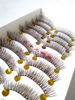 Hand made natural false eyelash individual thick long eyelash extension Eyelashes makeup