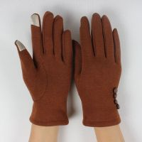 Ladies fashionable touch screen gloves