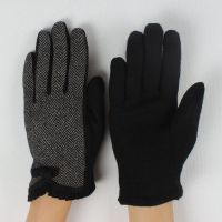 2014 new style ladies two block color woolen glove