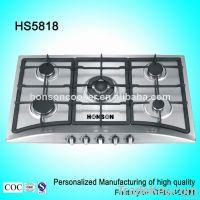 5 burners 304SST panel Gas Cooker HS5818 5 burner