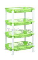 4 Tiers Plastic Multipurpose Rack