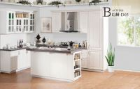 Custom solid wood kitchen cabinet from Xiamen China