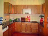 China wood mdf design kitchen cabinet with aluminium handles