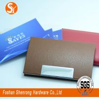 hot selling promotional metal and leather card holder card case