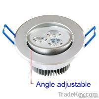 3w led high power recessed downlight