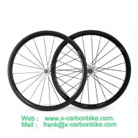 Lightweight Carbon fiber road clincher wheelsets/ carbon wheels for road bicycle racing