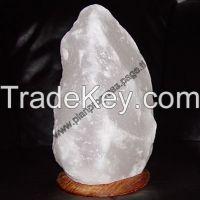 Himalayan Natural Salt lamp Gray