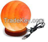 Himalayan Salt Lamp Globe Shape USB (RED, PINK, ORANGE)