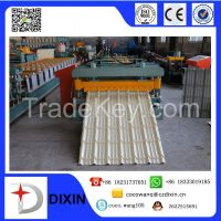 2015 Best price aluminum roofing sheet glazed steel tile roll forming machine