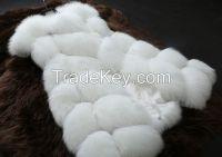 2017new imitation fox fur stitching imitation fur vest Miss Ma Jia