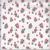 Flower Printed Corduroy Cotton Fabric 16x20 / 134x44