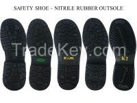 Safety Shoe Nitrile Rubber outsole