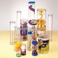 Cylindrical plastic box