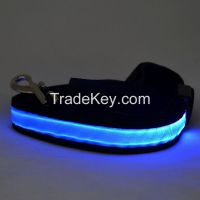 2016 factory direct sell pet products light up dog leash