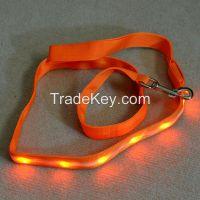 light up led pet leash for dog