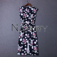 Western Star Style Big Printed Cotton & Linen Dress