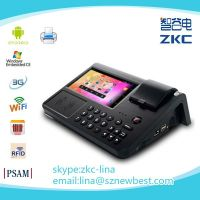 Android pos terminal with 7inch touch screen support 3G/WiFi/RFID/Barcod scanner/build-in thermal printer/PSAM(PC700)