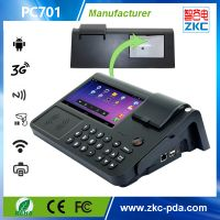 Touch screen Android pos with printer 3G/WiFi/RFID/Barcode scanner /PSAM (PC700/PC701)