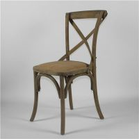 Solid oak Cross back chair