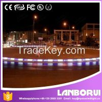Highway construction led subgrade light, Plastic roadside pavement LED light curbstone for hot and best sale.