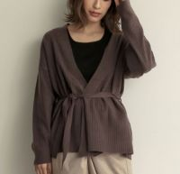 Lady's knitted cardigan sweater