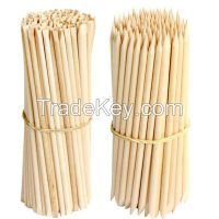 nature wood manicure sticks with high quality